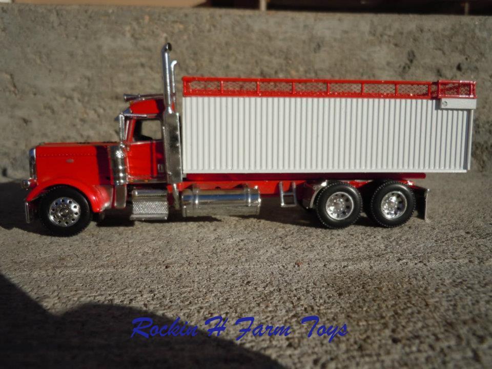 Toy Semi Trucks And Trailers : Custom silage trucks and trailers rockin h farm toys